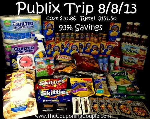 Publix Shopping trip on 8-8
