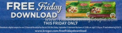 Kroger Free Friday Download for 9-13
