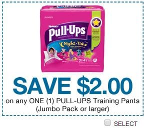 huggies pull ups coupon code