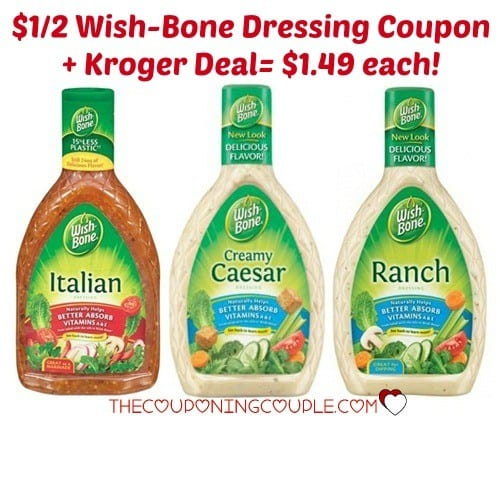 Wish-Bone Salad Dressing Only 52¢ at Target! Head on over to Target this week and score Wish-Bone Salad Dressing for only 52¢! Buy 2 Wish-Bone Salad Dressing – $ each Use/1 Wish-Bone Product from SS 5/11 R Also use/2 Wish-Bone Dressing Target Coupon Pay $ and submit for 75¢ Ibotta Deposit = 52¢ each! MORE TARGET DEALS.