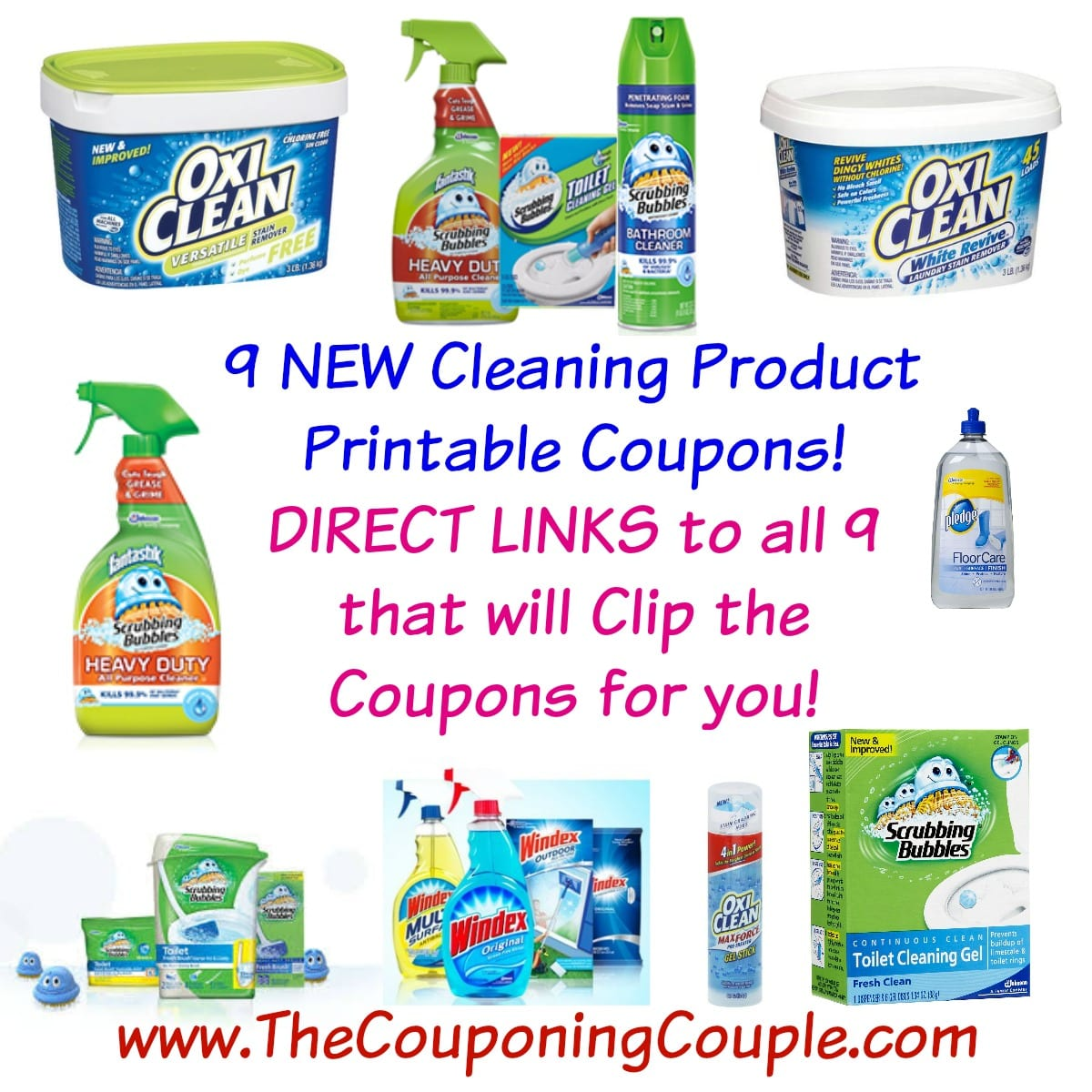 Scrubbing Bubbles Bathroom CLEANING products on any TWO, coupon states