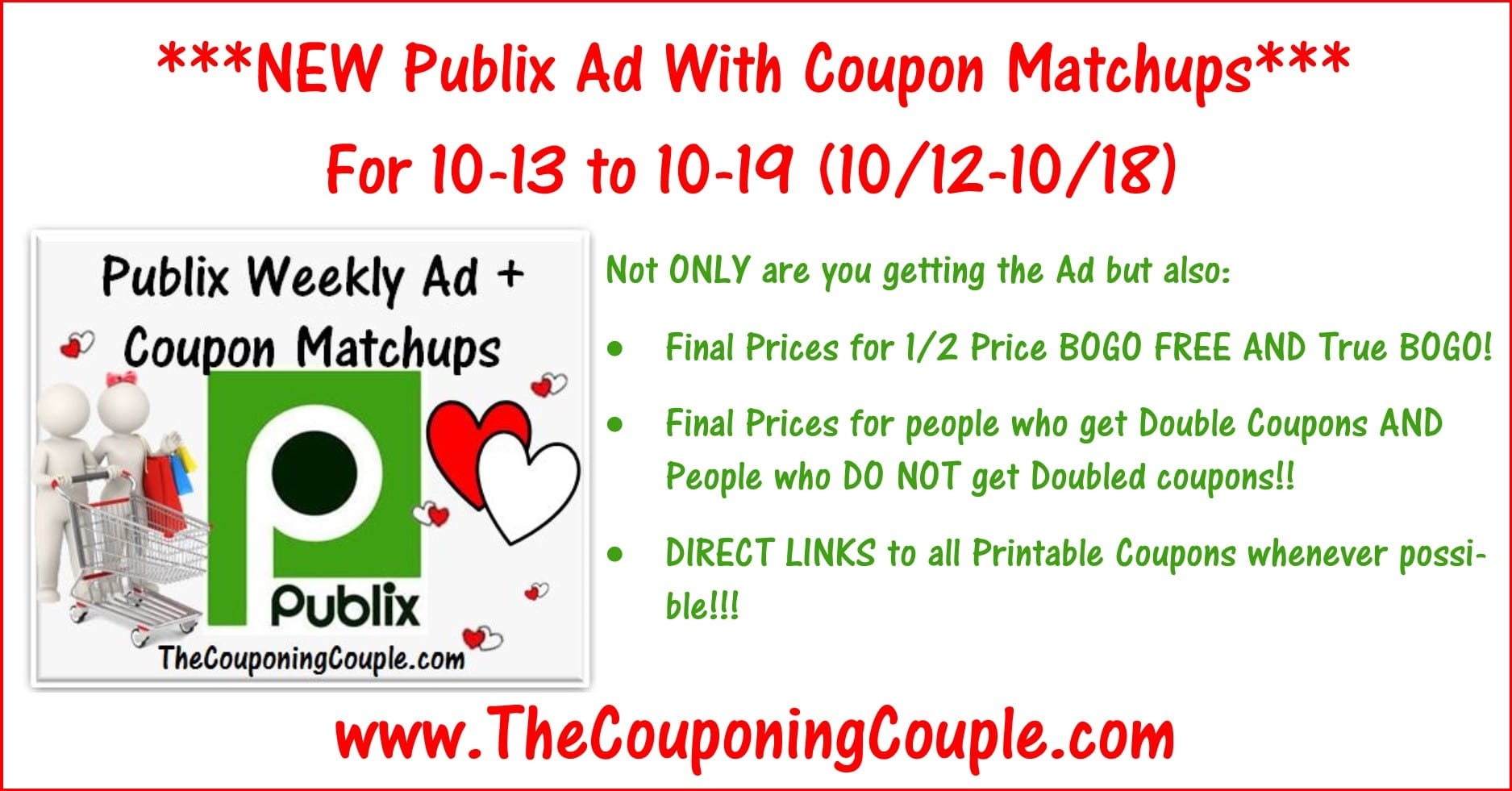 Publix Weekly Best Deals (valid 8//15 or 8//16 for some) View This Post. Publix Weekly Matchups (Valid 8//15 or 8//16).