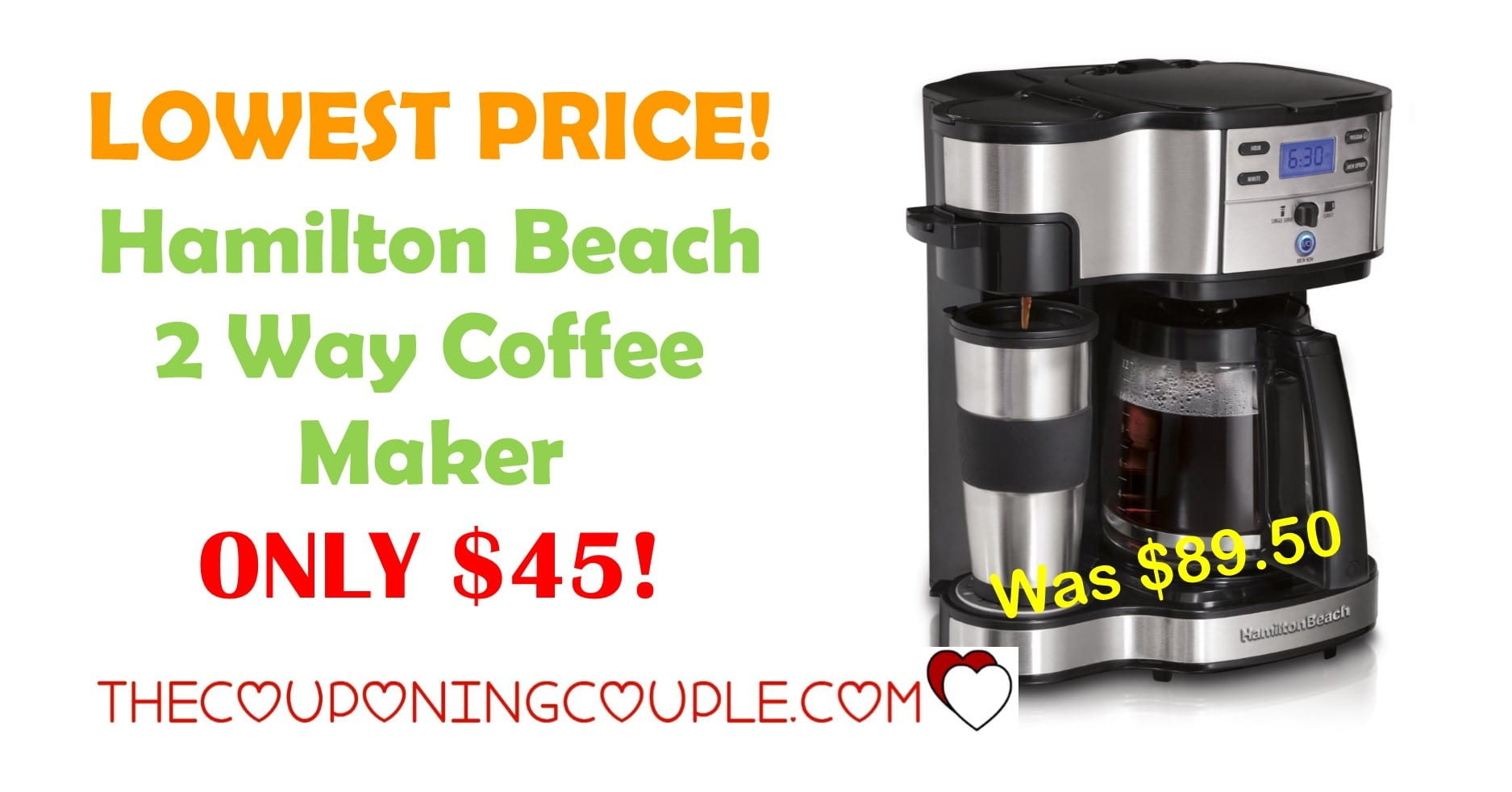 Coffee Maker On Gas : LOWEST PRICE! Hamilton Beach 2 Way Coffee Maker ONLY USD 45!