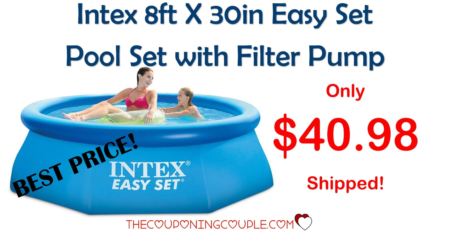 intex 8ft x 30in easy set pool set with filter pump only. Black Bedroom Furniture Sets. Home Design Ideas