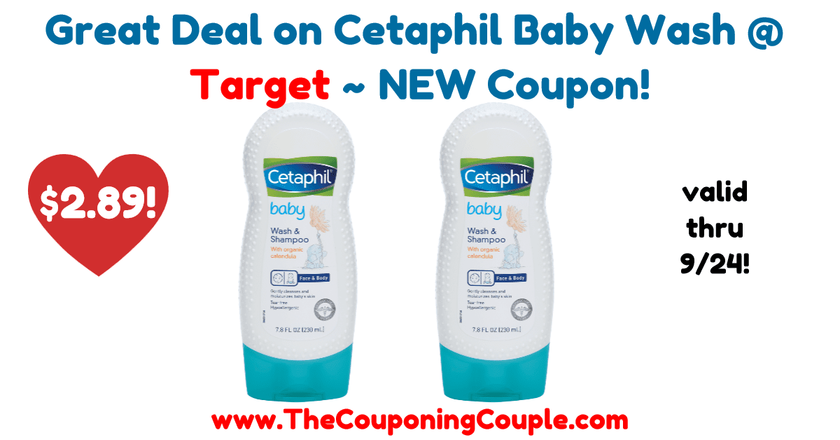 Great Deal on Cetaphil Baby Wash @ Target ~ NEW Coupon!
