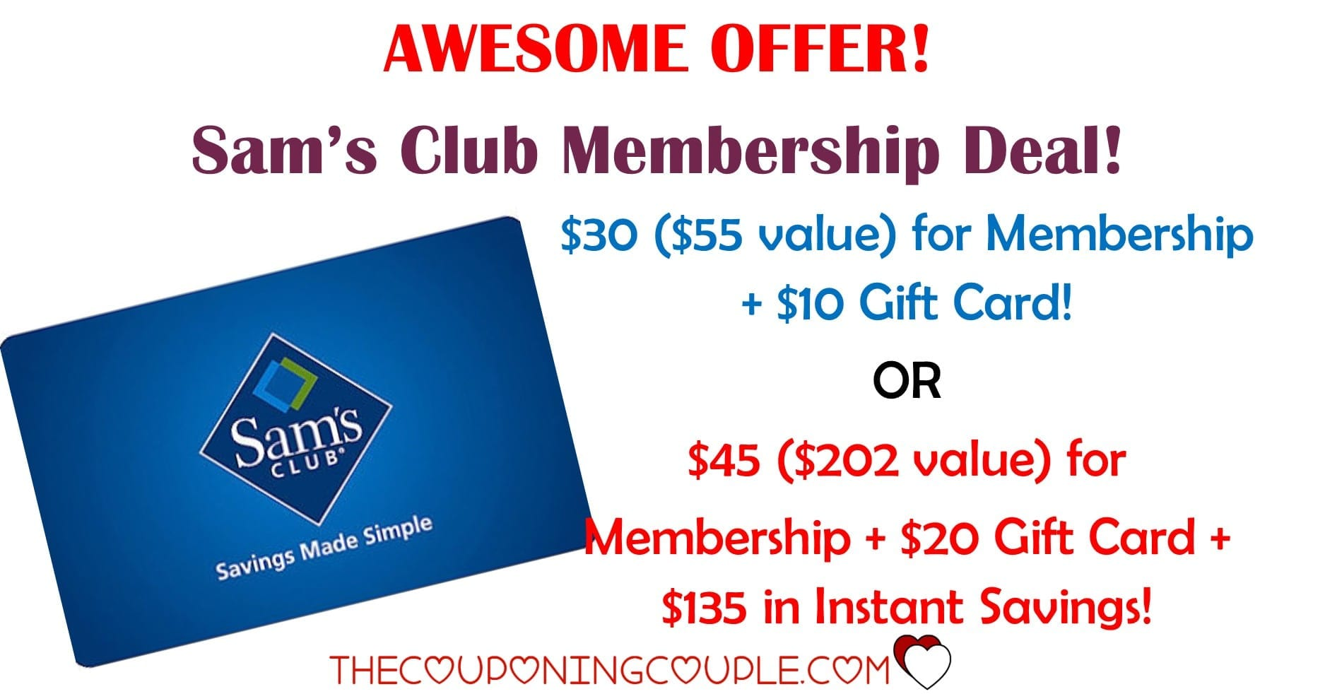 Get a discounted Sam's Club membership: Sam's Club has 3 membership options with each tailored to shopper needs. We recommend shoppers get the Sam's Business membership which is the same price as regular Sam's membership but shoppers can include add-on memberships up to 8 and receive additional discounts on pharmacy and optical! Sam's Club membership also include.