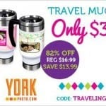 Personalized Travel Mug ~ Only $3 Save 82% PLUS Get 40 FREE Prints!