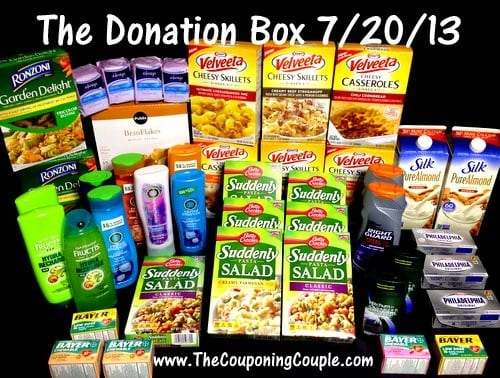 the donation box for 7-20