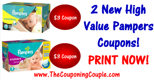2 New Pampers Printable Coupons High Value Print Now
