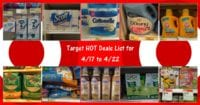 Target Hot Deals List for 4-17 to 4-22-17