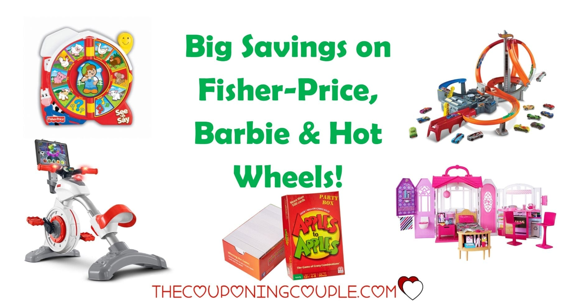 Fisher Price Kids Toys, Barbie and Hot Wheels Big Savings, up to 40% off!