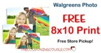 NEW OFFER! 8x10 Photo for FREE at Walgreens! Free Store Pickup!