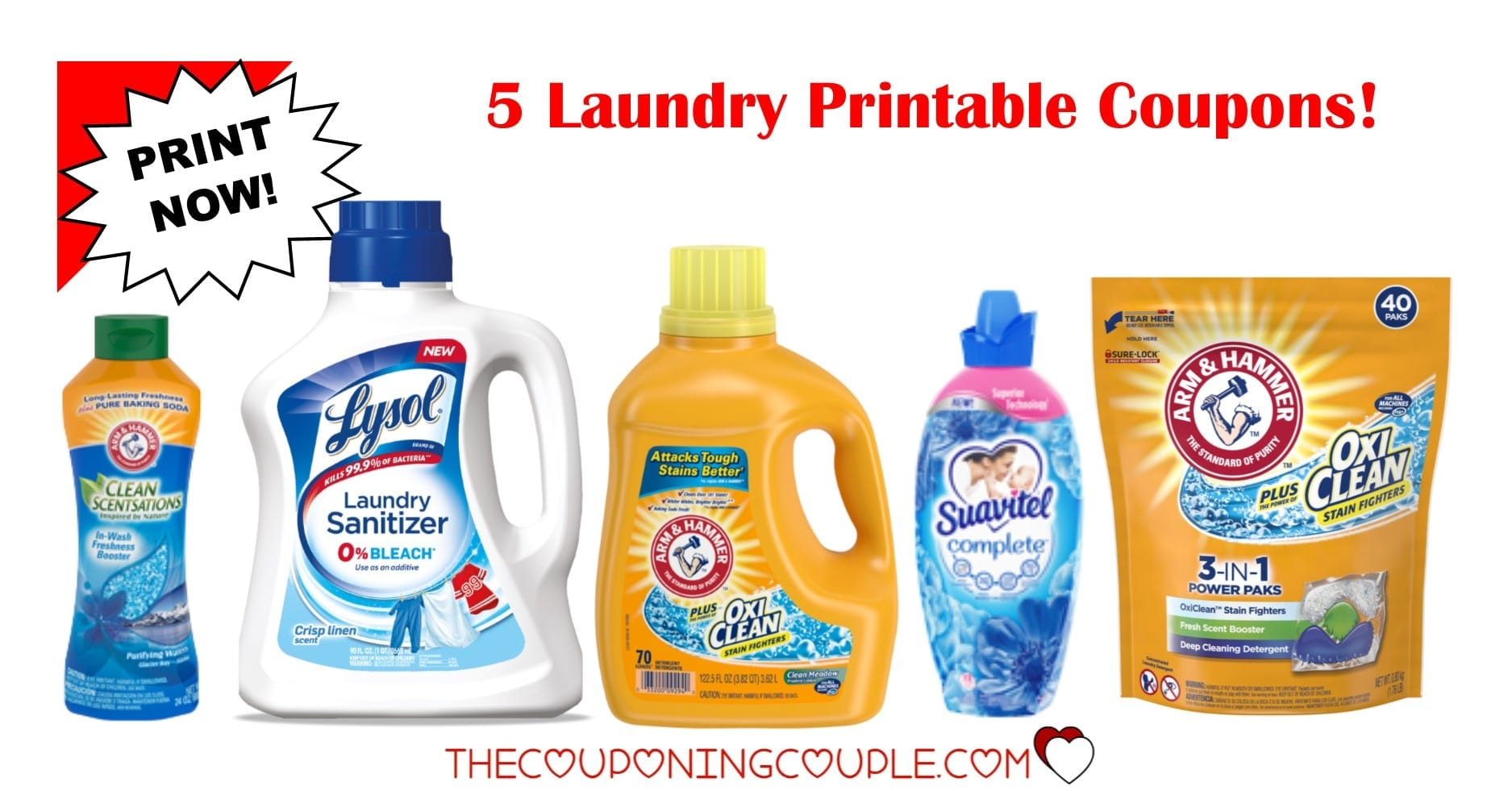 image relating to All Laundry Detergent Printable Coupons identified as 5 Laundry Detergent Printable Discount coupons ~ $5.50 within Price savings!!!