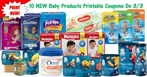10 NEW Baby & Toddler Printable Coupons