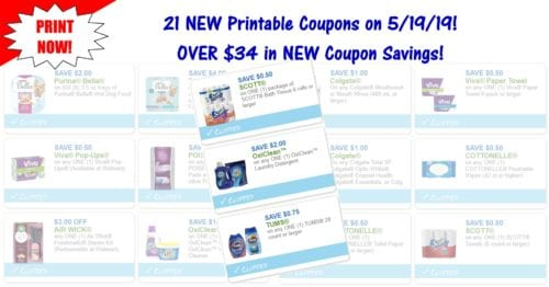 21 NEW Printable Coupons