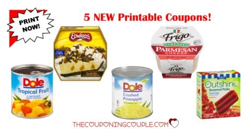 5 new printable coupons