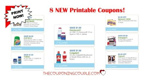 8 new printable coupons