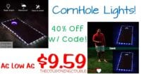 CornHole Lights - As Low As $9.59 with 40% Coupon Code~