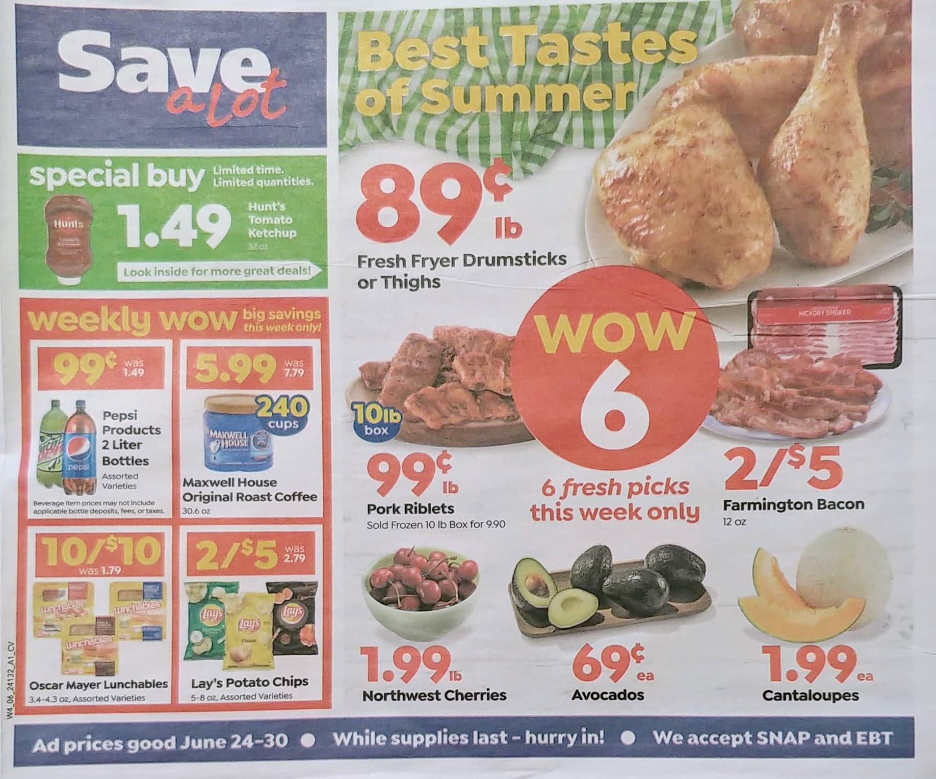 Save A Lot Weekly Ad 6/24/20 - 6/30/20
