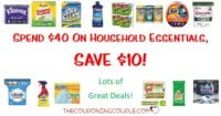 HOT DEAL! Save $10 WYS $40 with Household Essentials Sale!