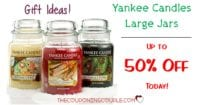 HOT BUYS! Yankee Candle Sale - Up to 50% Off for Large Jar Candles!