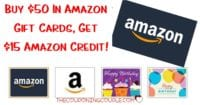 FREE $15 Amazon Credit When You Buy $50 in Amazon Gift Cards