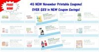 45 NEW Printable Coupons