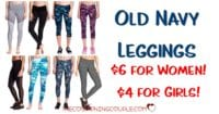 Old Navy Leggings - ONLY $6! Today Only! Comfy Wear! Great Deal!