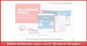 Staples Weekly Ad 1/24/21 - 1/30/21 ~ Staples Ad Preview!