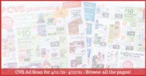 CVS Ad Preview (4/11/21 - 4/17/21): Early CVS Weekly Ad Preview