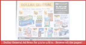 Dollar General Ad (5/2/21 - 5/8/21): Dollar General Weekly Ad Preview