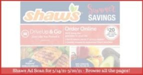 Shaws Flyer 5/14/21 - 5/20/21: Shaws Circular & Weekly Ad Preview