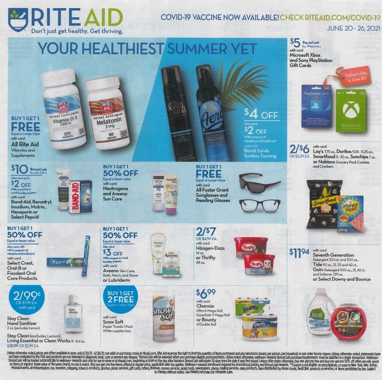 Rite Aid Weekly Ad 6/20/21 - 6/26/21