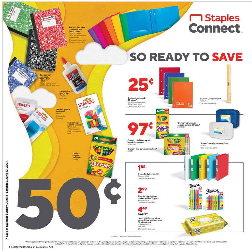Staples Weekly Ad 6/6/21 - 6/12/21