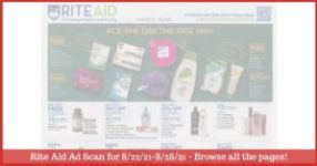 Rite Aid Weekly Ad (8/22/21 - 8/28/21): Early Rite Aid Ad Preview