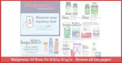 Walgreens Ad (8/8/21 - 8/14/21): EARLY Walgreens Ad Preview