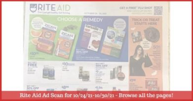Rite Aid Weekly Ad (10/24/21 - 10/30/21): Early Rite Aid Ad Preview