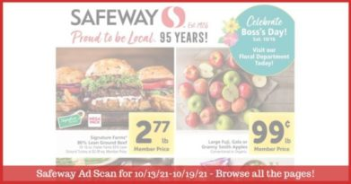 Safeway Weekly Ad (10/13/21 - 10/19/21): Safeway Ad Preview