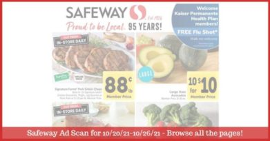 Safeway Weekly Ad (10/20/21 - 10/26/21): Safeway Ad Preview
