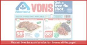 Vons Weekly Ad (10/20/21 - 10/26/21): Early Vons Ad Preview